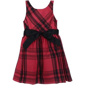 《セール開催中》RALPH LAUREN ガールズ 3-8 歳 ワンピース&ドレス レッド 3 ポリエステル 100% Plaid Taffeta Dress
