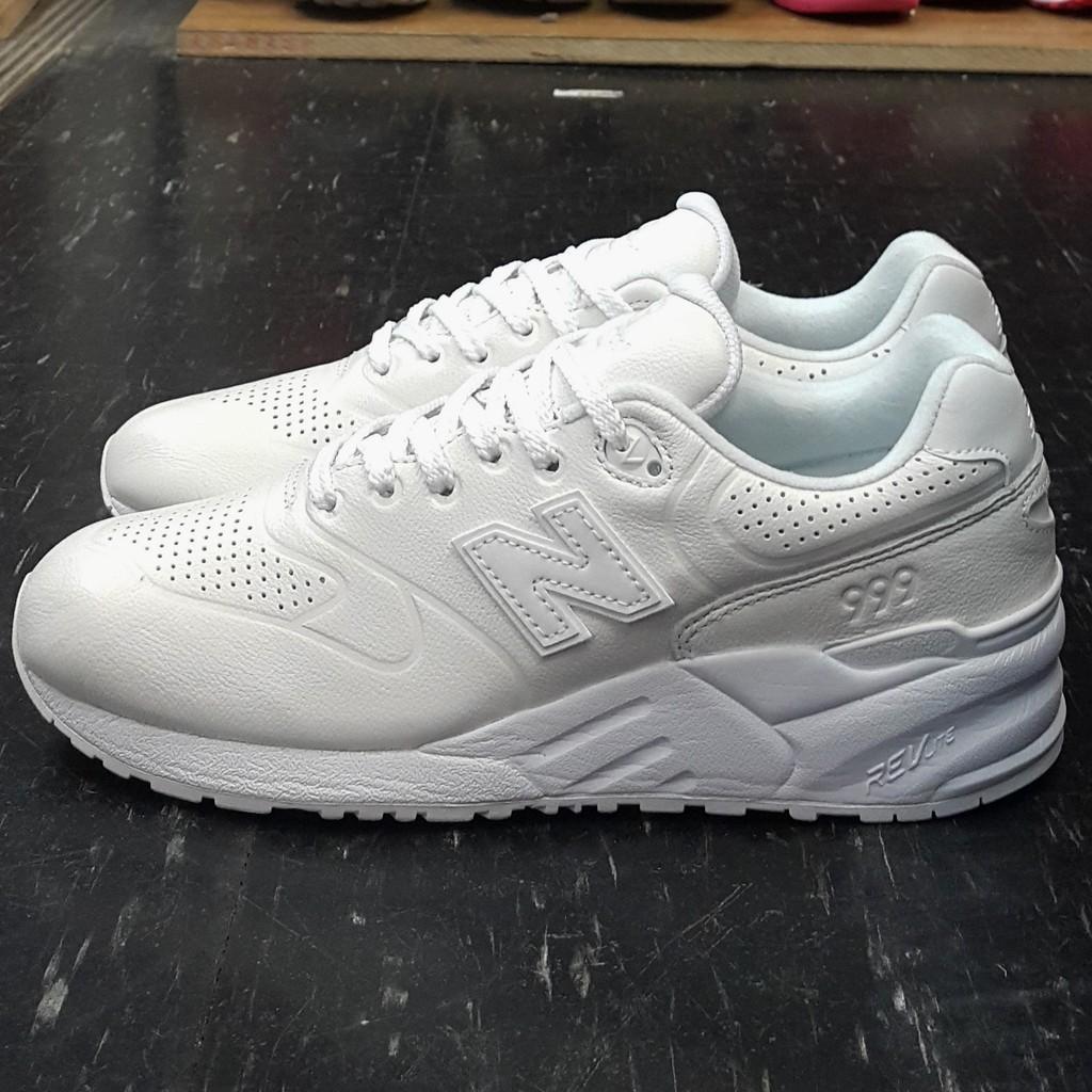new balance nb 999 MRL999AH 白色 全白 皮革 輕量化 一體成型 慢跑鞋