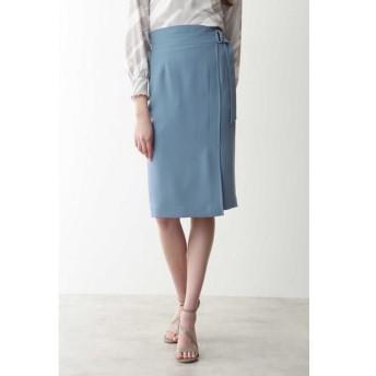 PINKY & DIANNE/ピンキーアンドダイアン ◆ソフトツイルラップ風スカート ブルー 36