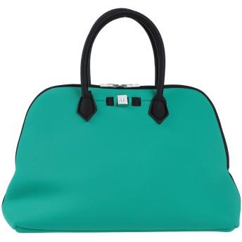 《セール開催中》SAVE MY BAG レディース ハンドバッグ グリーン ポリエーテル 50% / ナイロン 40% / ポリウレタン 10%