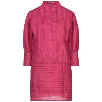 《セール開催中》MES DEMOISELLES レディース ミニワンピース&ドレス フューシャ 36 麻 100% / コットン