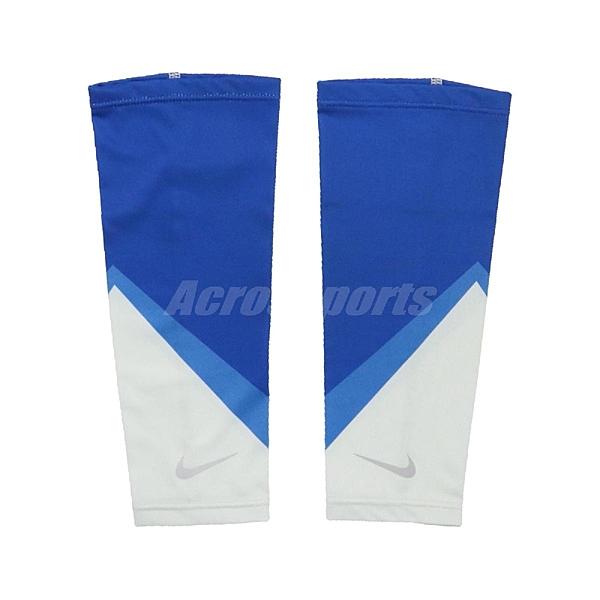 Nike 腿套 Cooling Calf Sleeves 藍 白 男女款 跑步 涼感 一雙入 【ACS】 N1000513-958
