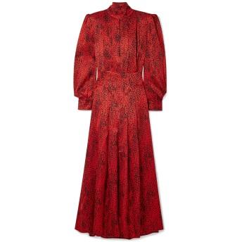 《セール開催中》ALESSANDRA RICH レディース ロングワンピース&ドレス レッド 36 シルク 100%