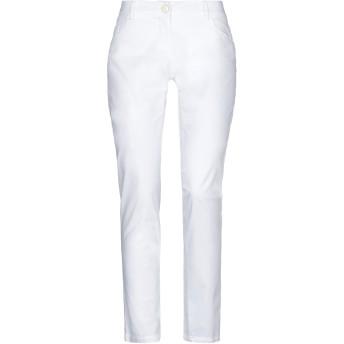 《セール開催中》CRISTINAEFFE COLLECTION レディース パンツ ホワイト 44 コットン 98% / ポリウレタン 2%