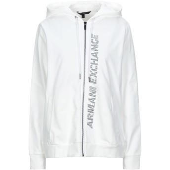《セール開催中》ARMANI EXCHANGE レディース スウェットシャツ ホワイト S コットン 97% / レーヨン 3% / ポリウレタン