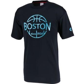 CONVERSE(コンバース) オーセンティック Tシャツ 機能Tシャツ プラクティスウェア ブラック/ターコイズ