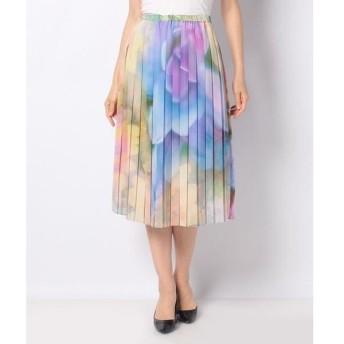 LAPINE BLANCHE / ラピーヌ ブランシュ フラワープリント プリーツスカート