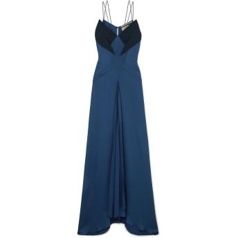 《セール開催中》ROLAND MOURET レディース ロングワンピース&ドレス ダークブルー 10 シルク 97% / ポリウレタン 3% / アセテート / レーヨン