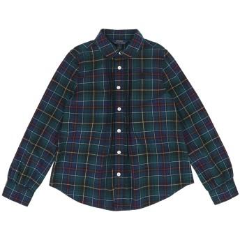 《セール開催中》RALPH LAUREN ガールズ 3-8 歳 シャツ グリーン 8 コットン 100% Plaid Poplin Shirt