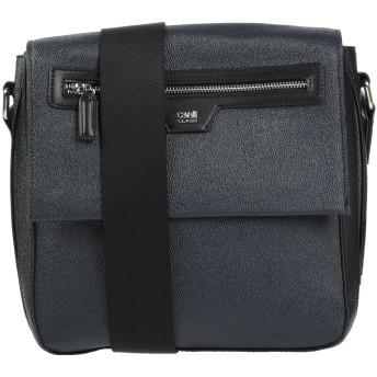 《セール開催中》CAVALLI CLASS メンズ メッセンジャーバッグ ダークブルー ポリ塩化ビニル 80% / 牛革(カーフ) 20% / コットン