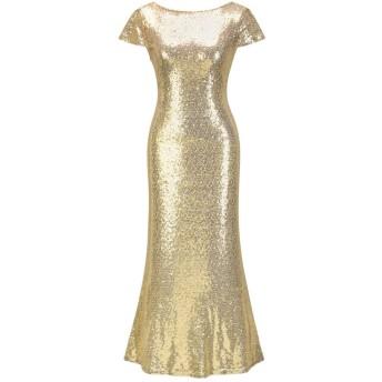 WDSFT 女性のスパンコールイブニングドレスヒップスカートロングスカートマーメイドスカートドレス2020春夏新 (Color : Gold, Size : M)