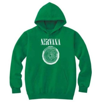 [8色]BANDLINE(バンドライン) NIRVANA ニルヴァーナ Kurt Cobain カートコバーン バンド ロック パンク メタル パーカーケリーグリーン 2XLサイズ