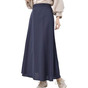 (アール・ピー・エス) r・p・s 綿麻ロングフレアースカート 0200200140 M ネイビー