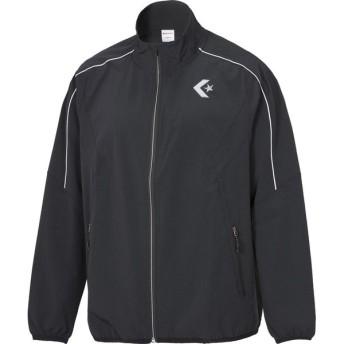 CONVERSE(コンバース) (男女兼用 バスケットボールウェア) スタッフウェア フルジップストレッチジャケット ブラック