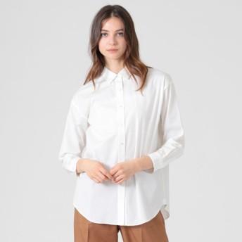 【マッキントッシュ ロンドン ウィメン(MACKINTOSH LONDON WOMEN)】 シーアイランドコットンシャツ ホワイト