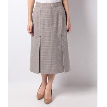 LAPINE BLEUE / ラピーヌ ブルー 千鳥チェックボックスプリーツスカート