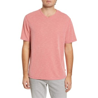 Tommy Bahama トップス Tシャツ Tommy Bahama Tropicool Paradise V-Neck T Pink Plume メンズ [並行輸入品]