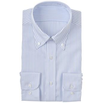 メンズ 【在庫限り】セブンプレミアム 超形態安定青ボタンダウンシャツ(レギュラーシルエット)