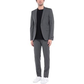 《セール開催中》LES HOMMES メンズ スーツ 鉛色 48 バージンウール 96% / ポリウレタン 4%