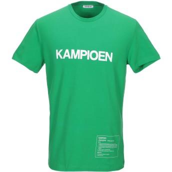 《セール開催中》BIKKEMBERGS メンズ T シャツ グリーン L コットン 92% / ポリウレタン 8%