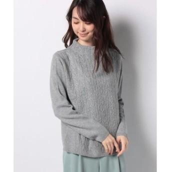 LAPINE BLANCHE / ラピーヌ ブランシュ カシミヤ 7G ケーブル柄×天竺表目セーター