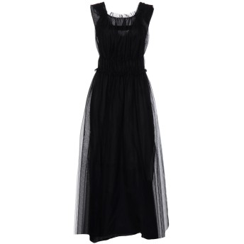 《セール開催中》SISTE' S レディース ロングワンピース&ドレス ブラック 44 レーヨン 100% / ナイロン