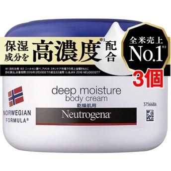 ニュートロジーナ ディープモイスチャー ボディクリーム 乾燥肌用 微香性 (200ml3個セット)