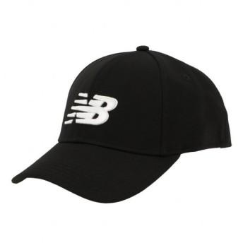 ニューバランス ロゴ キャップ MH934307 BKW 帽子 : ブラック×ホワイト New Balance