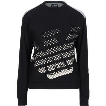 《セール開催中》EA7 レディース スウェットシャツ ブラック XXS コットン 100% / ポリウレタン