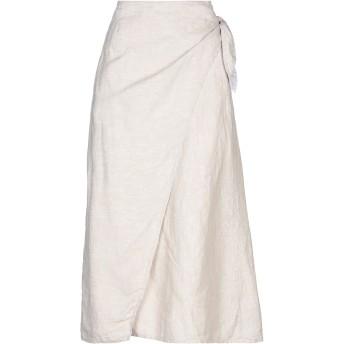 《セール開催中》RICORRROBE レディース ロングスカート ホワイト XS リネン 100%