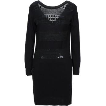 《セール開催中》LIU JO レディース ミニワンピース&ドレス ブラック S コットン 88% / レーヨン 12% / ポリエステル