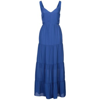 《セール開催中》KORALLINE レディース ロングワンピース&ドレス ブルー 40 ポリエステル 100%