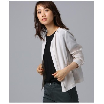 [L]【洗える】シャイニーキュプラ ショートジャケット