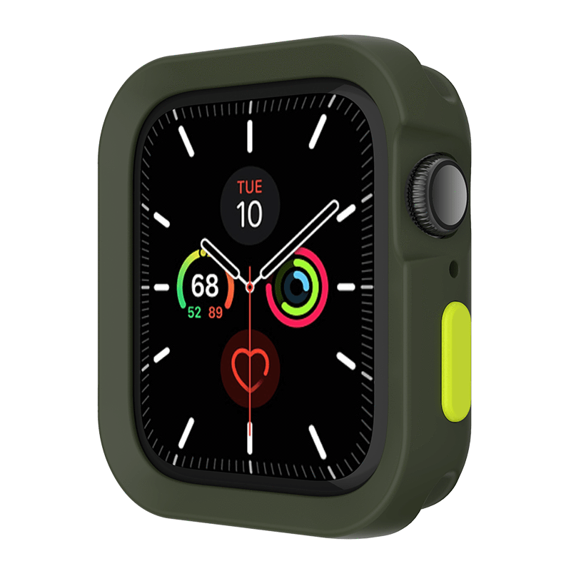 "Colors 2018 Apple Watch 6/5/4/SE 保護殼 44mm""-軍綠"