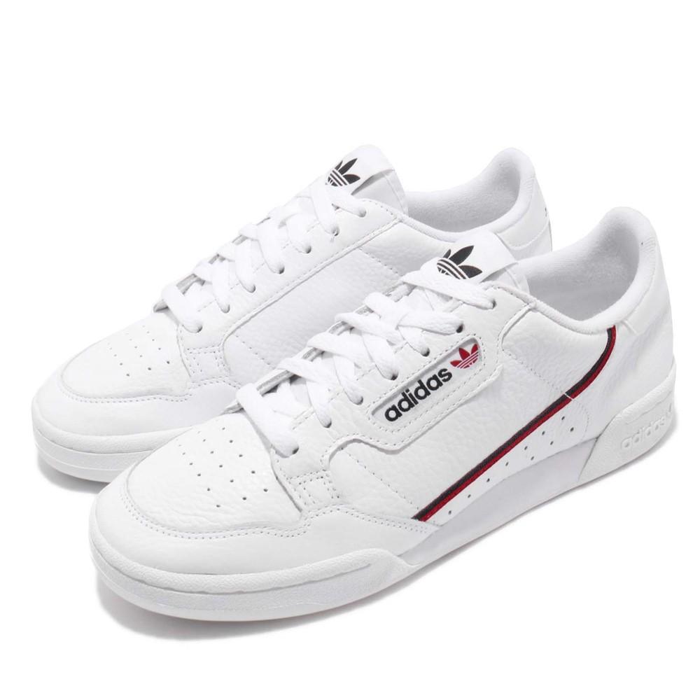 ADIDAS 休閒鞋 Continental 80 運動 男女鞋 愛迪達 情侶鞋 皮革 質感 穿搭 球鞋 白 紅 [G27706]
