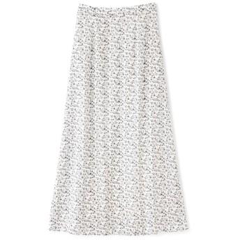 小花柄Aラインマキシスカート
