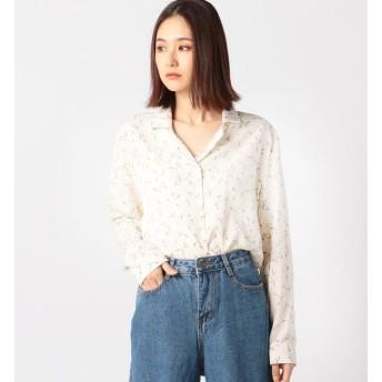 【アンレリッシュ/UNRELISH】 花柄開衿シャツ