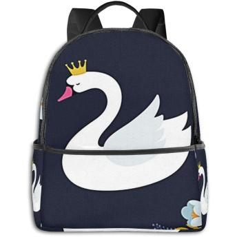 カジュアルバックパックファッションバックパック大容量学校レジャー旅行アウトドアビジネスワークコンフォートユニセックス ベイビースワンレイク