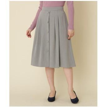 【WEB限定プライス/WEB限定サイズ(LL)あり/手洗い可】フロントボタン フレアミディスカート