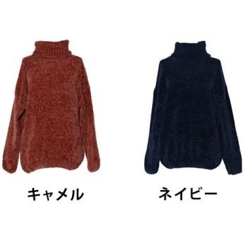 ニット・セーター - ShopNikoNiko 春新作 タートルネックモールニットトップス トップス モールニット レディース タートルネック モールヤーン