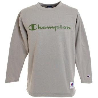 チャンピオン(CHAMPION) STRETCH GRID FLEECE 長袖Tシャツ C3-NB442 070 (Men's)