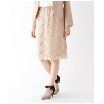 【WEB限定サイズ(LL)あり】ストレッチレースタイトスカート