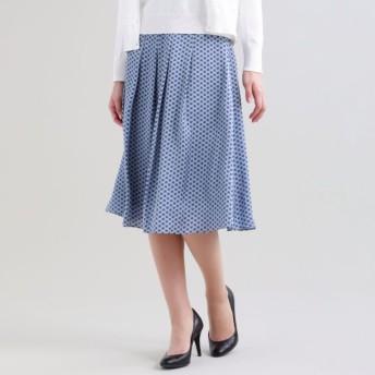 【トランスワーク(TRANS WORK)】 【Sサイズ〜】【ウォッシャブル】ドングリングサテンスカート ブルー
