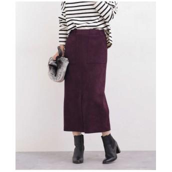 【WEB限定】ストレッチFスエードタイトスカート