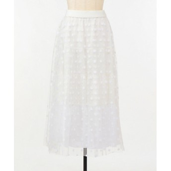 <MUVEIL/ミュベール> ドットチュールスカート 00 white【三越・伊勢丹/公式】