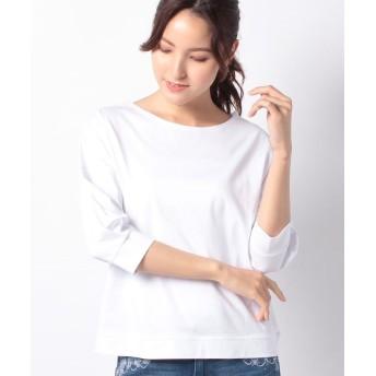 (PREFERIR/プレフェリール)ボートネックTシャツ/レディース ホワイト