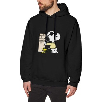 パーカースヌーピー Snoopy (156) メンズ 長袖 厚手 秋冬 プルオーバー スウェットシャツ フード付き ファスナー 秋冬 暖かい カジュアル 防寒 おしゃれ カップル 応援服 カジュアル