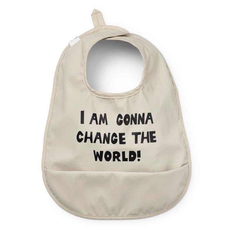 【瑞典ELODIE DETAILS】防水口袋圍兜 Change the World