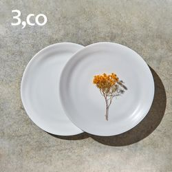 3,co 水波麵包盤 2件式 - 白色
