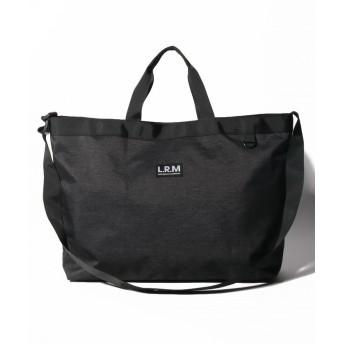 (Laplace box/ラプラスボックス ユニセックス)【L.R.M】 2WAYビッグトート&ショルダー/ユニセックス ブラック